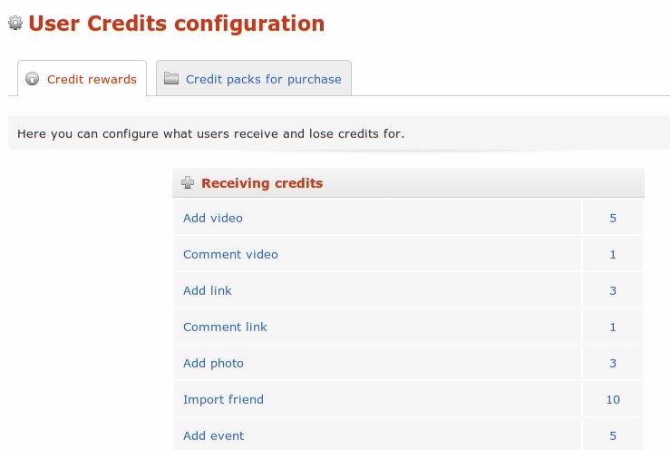 User Credits - Система кредитов