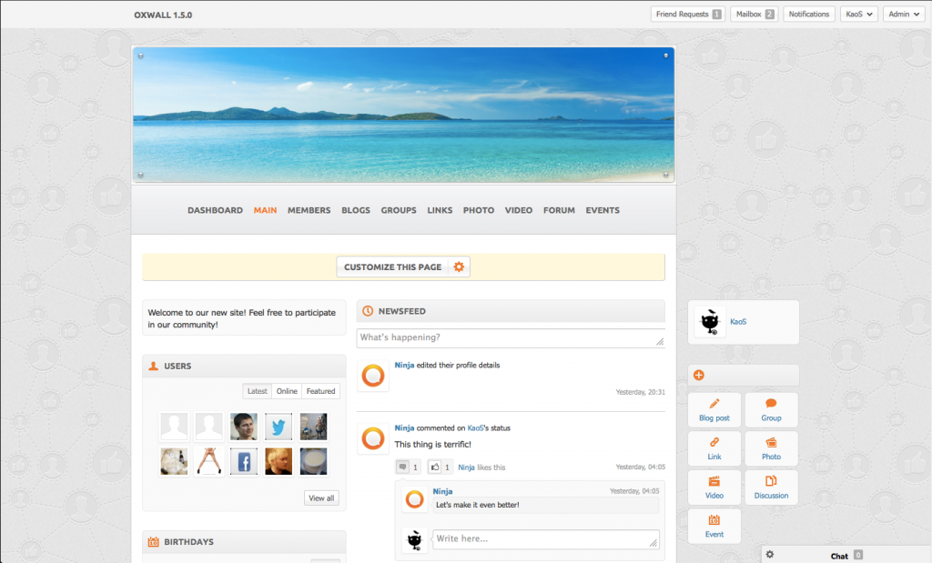 FirefoxScreenSnapz011 1024x619 Oxwall 1.5 выйдет 19 декабря